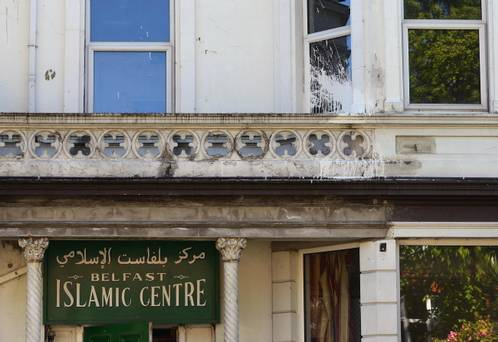 Belfast Islamic Centre paint attack