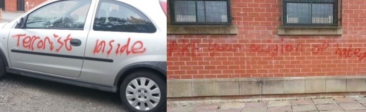 Bolton mosque graffiti (2)
