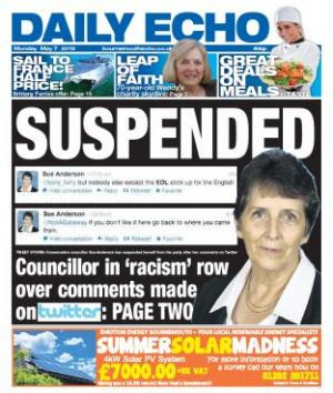 Daily Echo front page