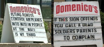 Domenico's signs