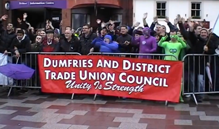 Dumfries anti-SDL protest