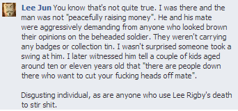 EDL Bristol Facebook comment