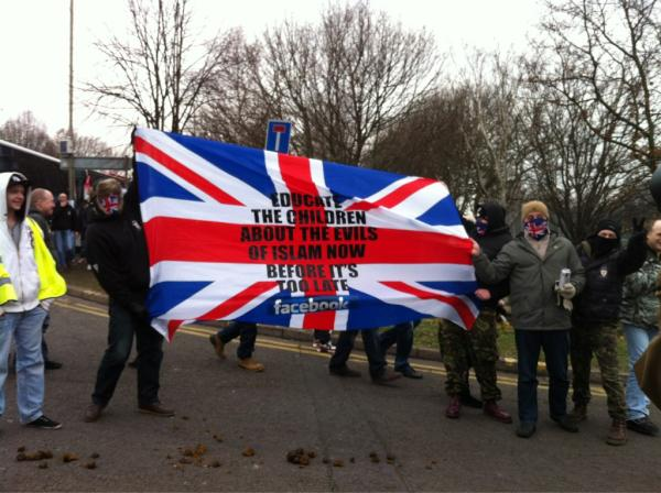 EDL Leicester 2012 banner
