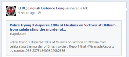 EDL Oldham Muslims lie
