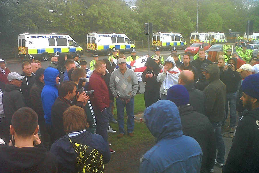 EDL Wolverhampton protest May 2013