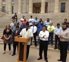Kansas rally against anti-sharia law