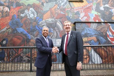 Lutfur Rahman and Len McCluskey