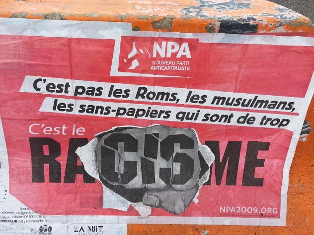 NPA anti-racist poster