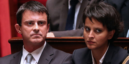 Najat Vallaud-Belkacem and Manuel Valls