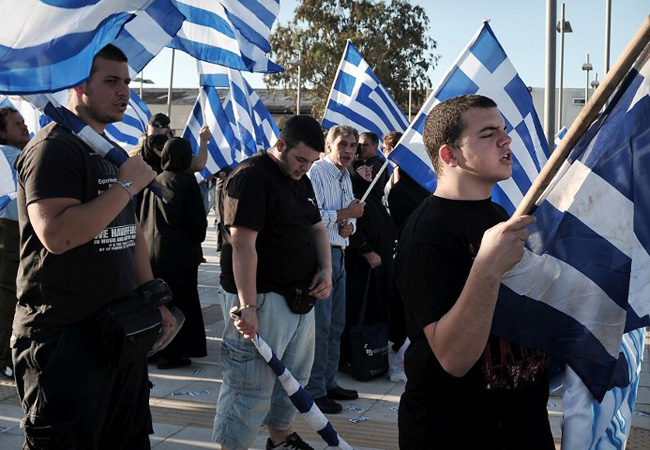 National Front Athens mosque protest