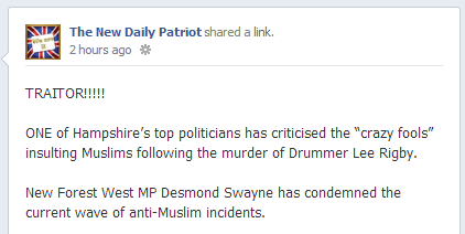 New Daily Patriot calls Desmond Swayne a traitor