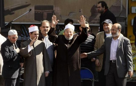 Qaradawi at Tahrir Square rally