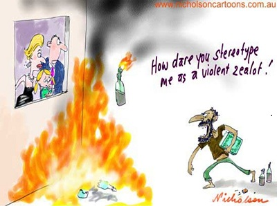 Sharia and the Constitution cartoon