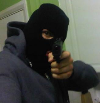 Tony Croydon with gun