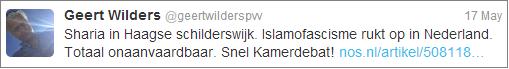 Wilders finds Islamofascism in The Hague