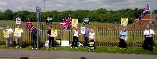 BNP St Helens protest