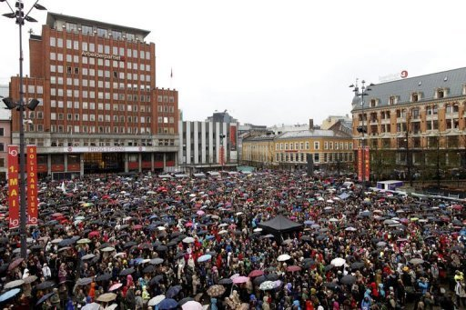 Oslo 'Children of the Rainbow' demonstration