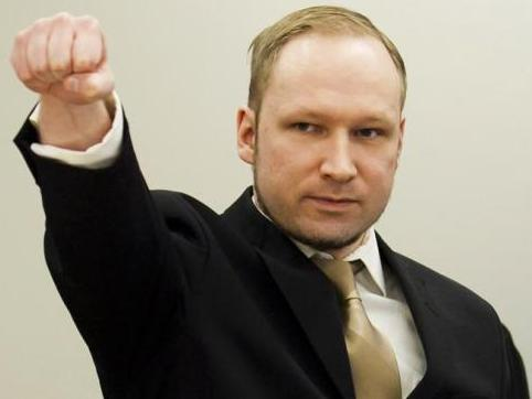 Breivik arriving at court