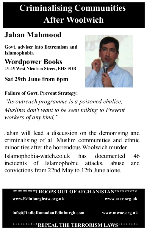 Criminalising Communities After Woolwich