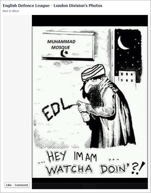 EDL Hey Imam cartoon