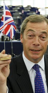 Farage and flag