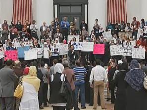 Florida protest against anti-sharia bill