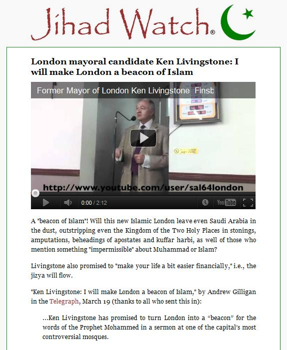 Jihad Watch and Andrew Gilligan