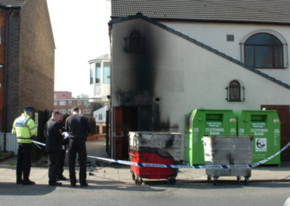 Luton mosque fire