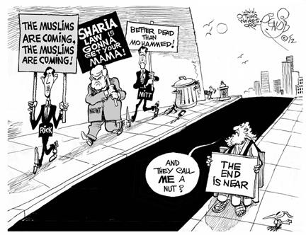 Muslims Are Coming cartoon