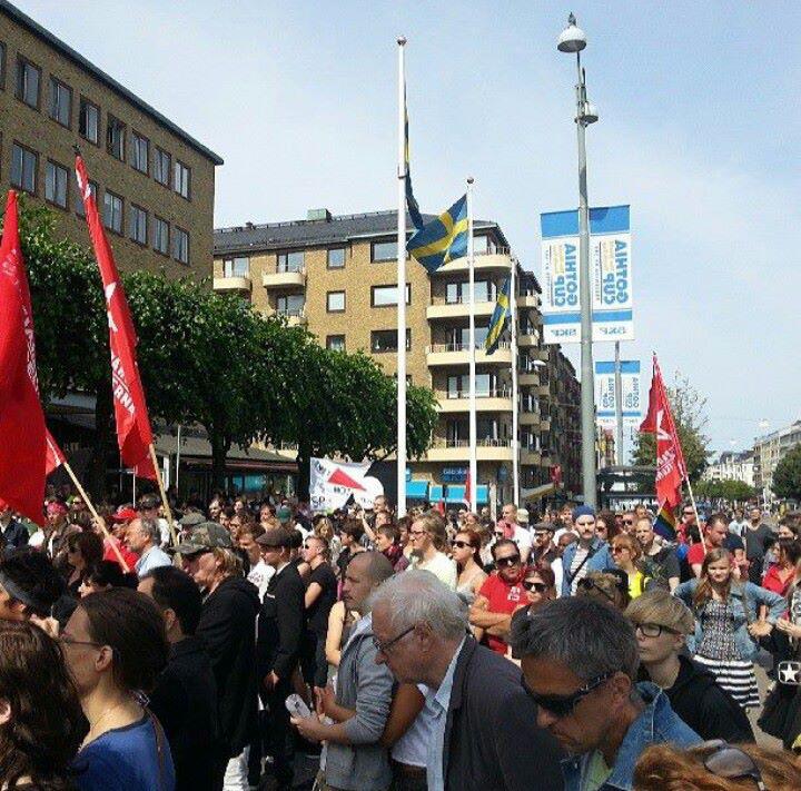 Nätverket 14 juli counter-demonstration