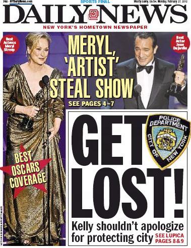 New York Daily News Get Lost headline