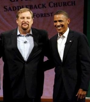 Rick Warren with Obama