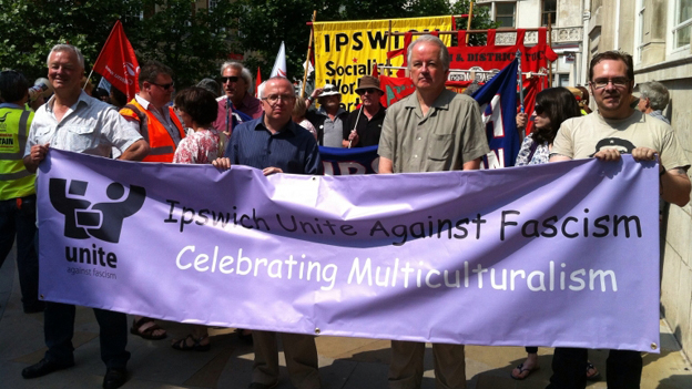 UAF Ipswich protest