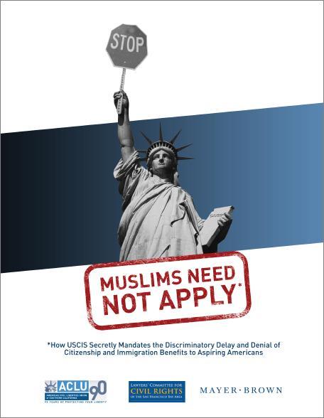 ACLU Muslims Need Not Apply