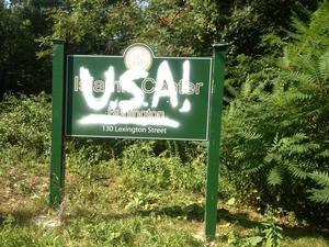 Burlington Islamic Center sign vandalized