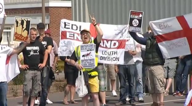 EDL Skegness halal protest (2)