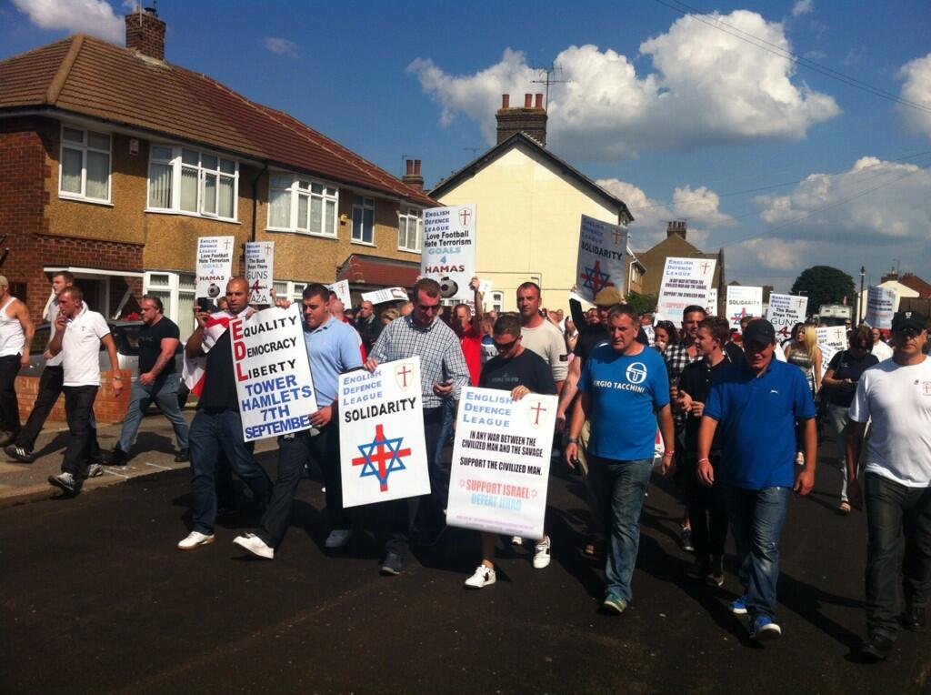 EDL protest Luton August 2013 (2)