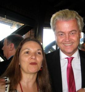 Vickie Janson with Geert Wilders