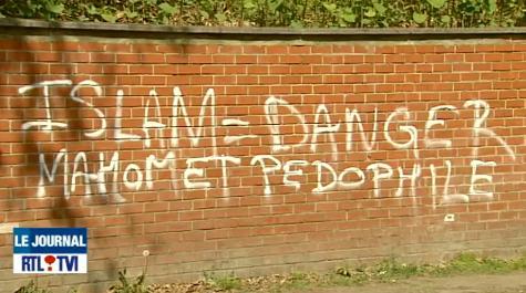 Belgian mosque graffiti