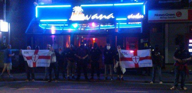 EDL Bournemouth protest