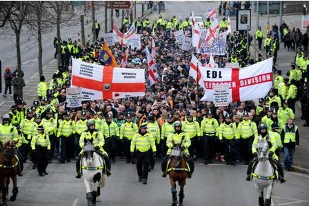 EDL Leicester march 2012