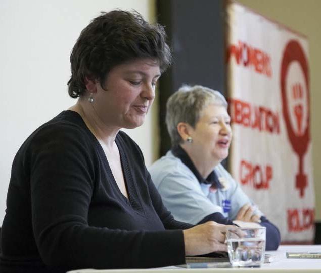 Julie Bindel at conference