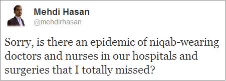 Mehdi Hasan on niqab in NHS