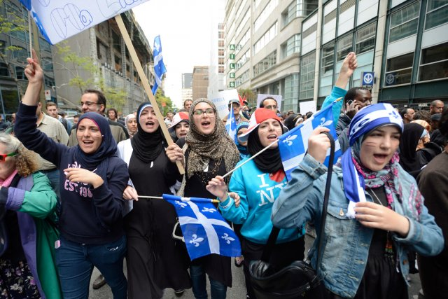 Montreal protest against Charter of Values