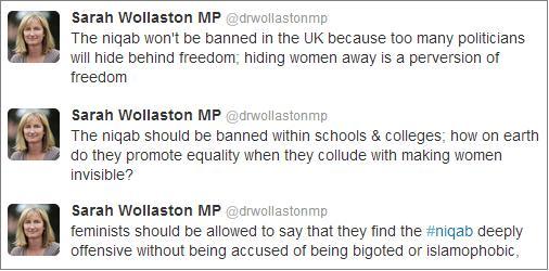 Sarah Wollaston niqab tweets