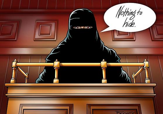 Sun niqab cartoon