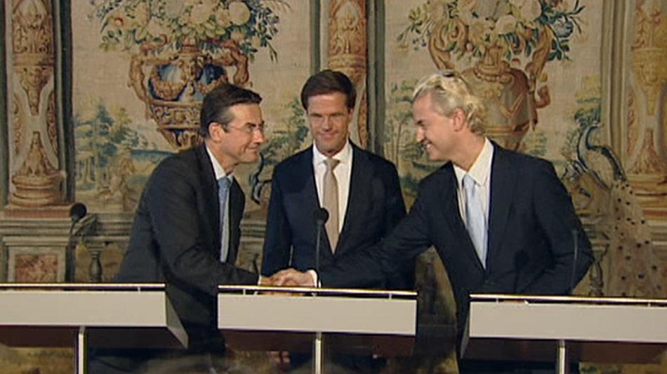 Wilders Verhagen handshake