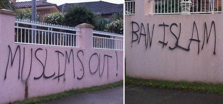 Ryde anti-Muslim graffiti