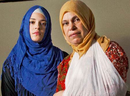 Abrar Ahmed with her mother