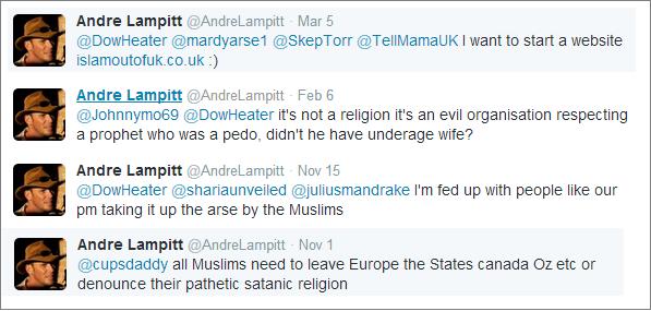 Andre Lampitt tweets
